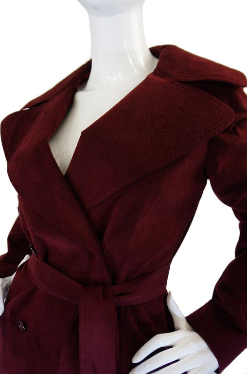 1972 Halston Ultra Suede Trench Coat 7