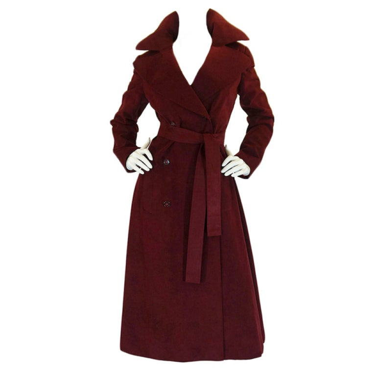 1972 Halston Ultra Suede Trench Coat 1