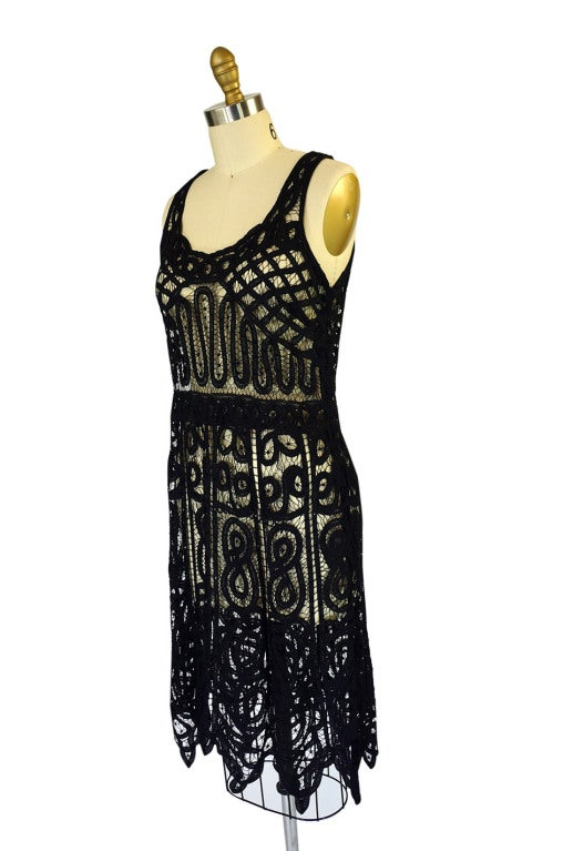 1920s Tape Lace & Beaded Flapper Dress 3