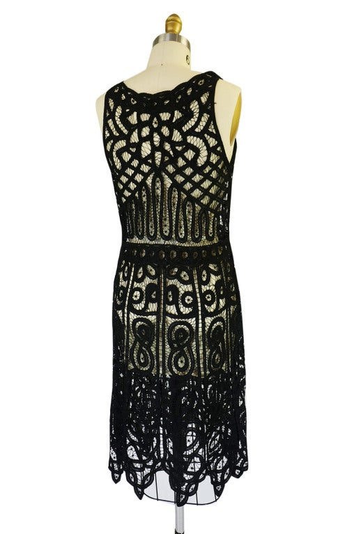1920s Tape Lace & Beaded Flapper Dress 5