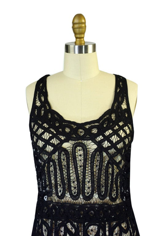 1920s Tape Lace & Beaded Flapper Dress 6