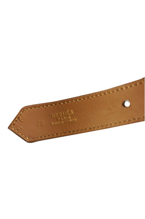 1993 auth hermes brown leather belt at 1stdibs