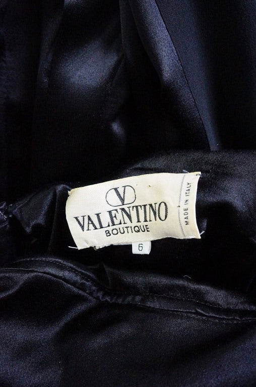 1980s Valentino Pleated Back Silk Gown 8