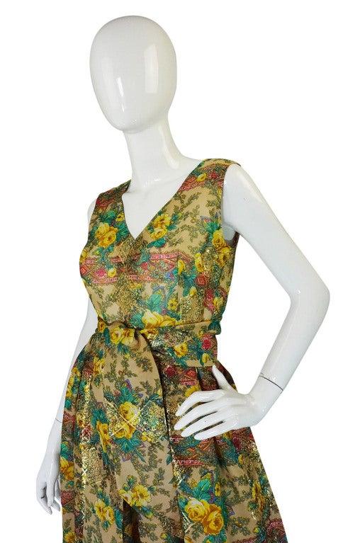 Rare 1950s Jacques Tiffeau Silk Dress 5