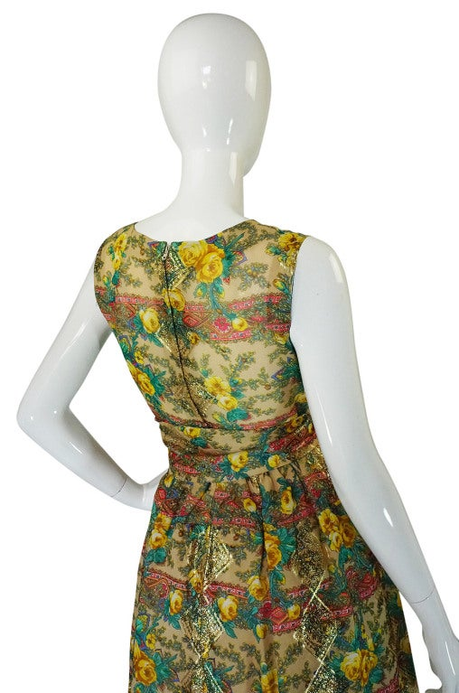 Rare 1950s Jacques Tiffeau Silk Dress 6