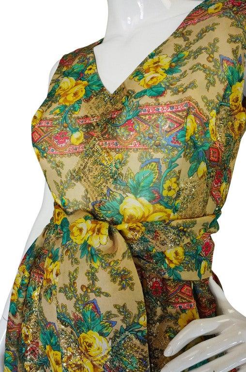 Rare 1950s Jacques Tiffeau Silk Dress 7