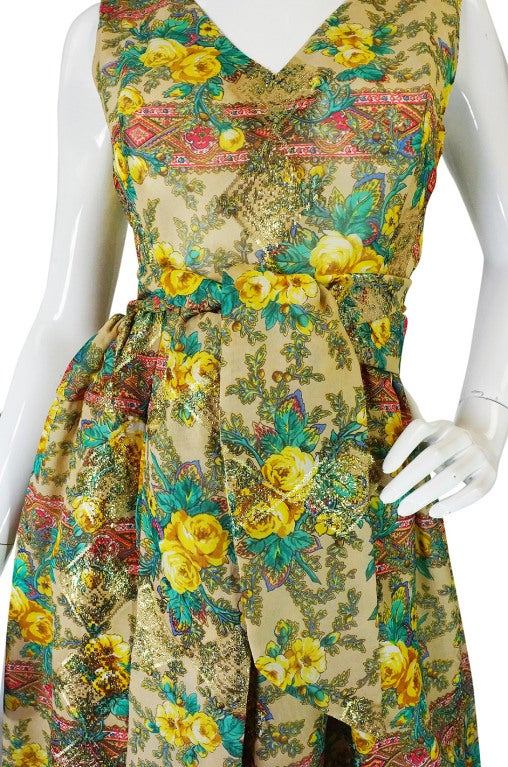 Rare 1950s Jacques Tiffeau Silk Dress 8