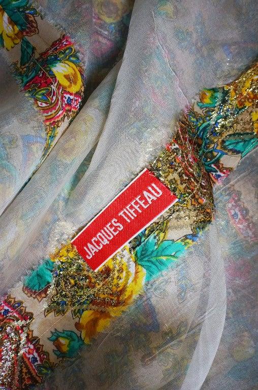 Rare 1950s Jacques Tiffeau Silk Dress 9