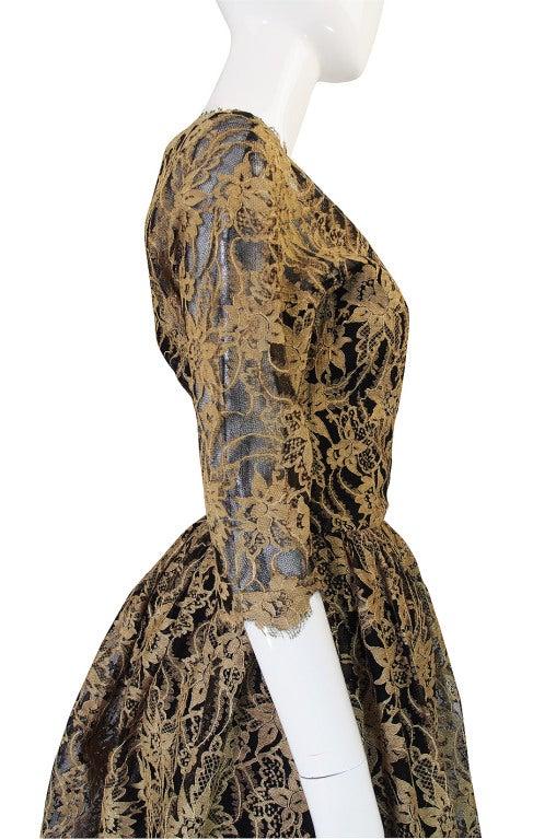 Rare 1950s Jacques Heim Lace Cocktail Dress 7