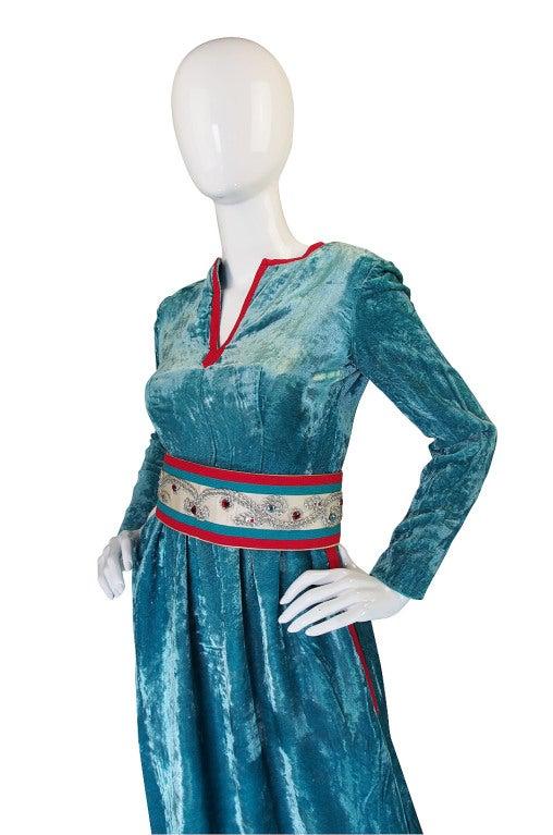 1960s Jeweled Belt Oscar De La Renta Museum Dress At 1stdibs