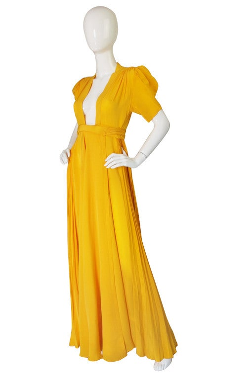 1970s Rare Couture Ossie Clark Gown 2