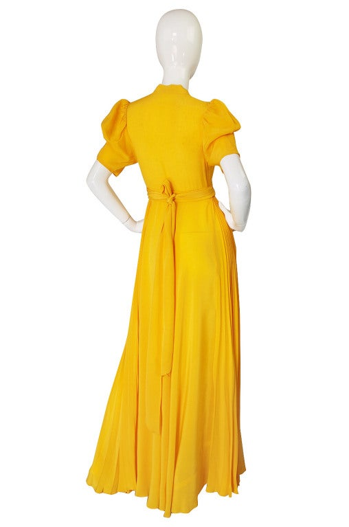 1970s Rare Couture Ossie Clark Gown 3
