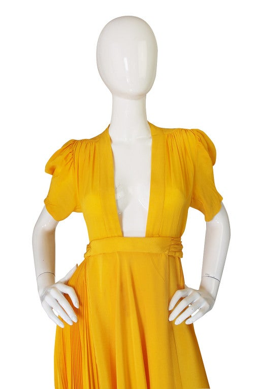 1970s Rare Couture Ossie Clark Gown 4