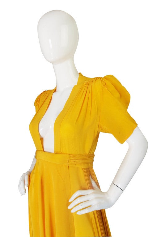 1970s Rare Couture Ossie Clark Gown 5