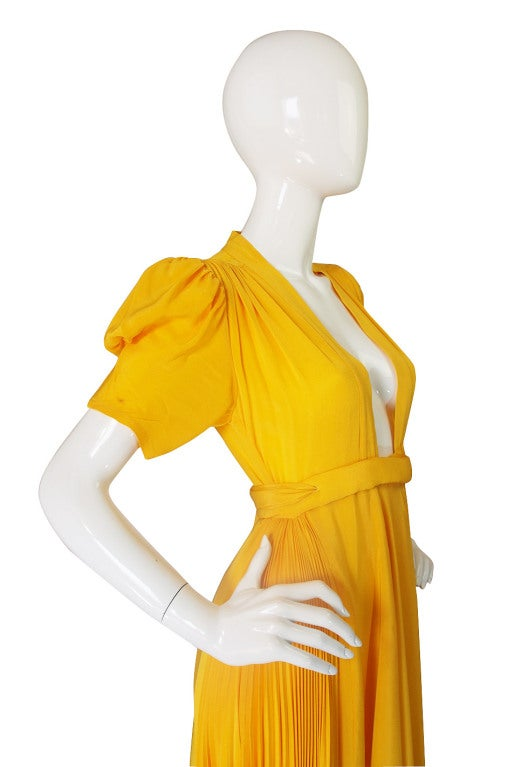 1970s Rare Couture Ossie Clark Gown 7