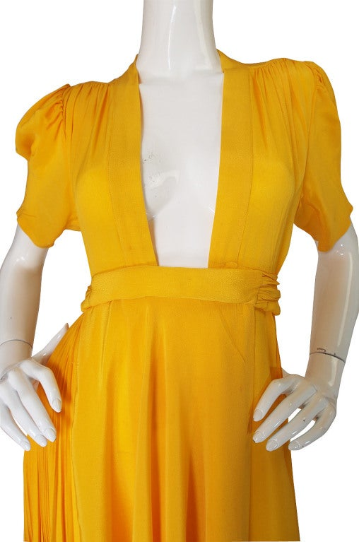 1970s Rare Couture Ossie Clark Gown 8