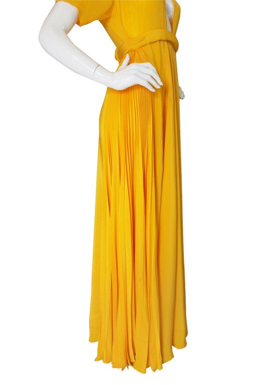 1970s Rare Couture Ossie Clark Gown 9