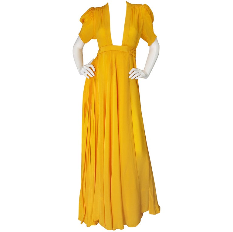 1970s Rare Couture Ossie Clark Gown 1