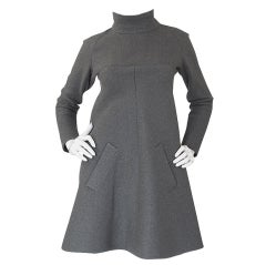 1960s Numbered Haute Couture Jean Patou Dress