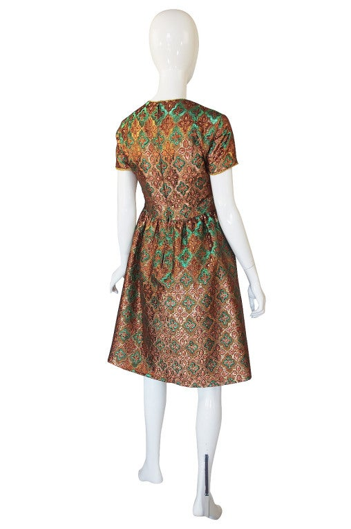 1960s Metallic Oscar De La Renta Dress 2