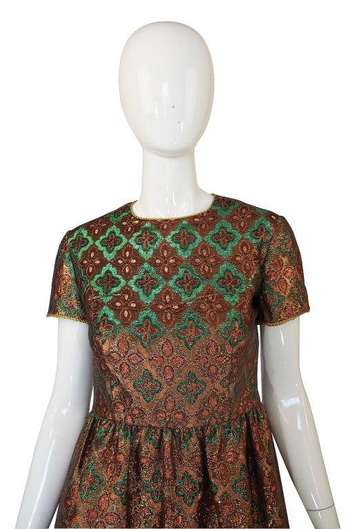 1960s Metallic Oscar De La Renta Dress 3