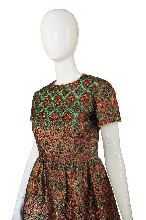1960s Metallic Oscar De La Renta Dress 4