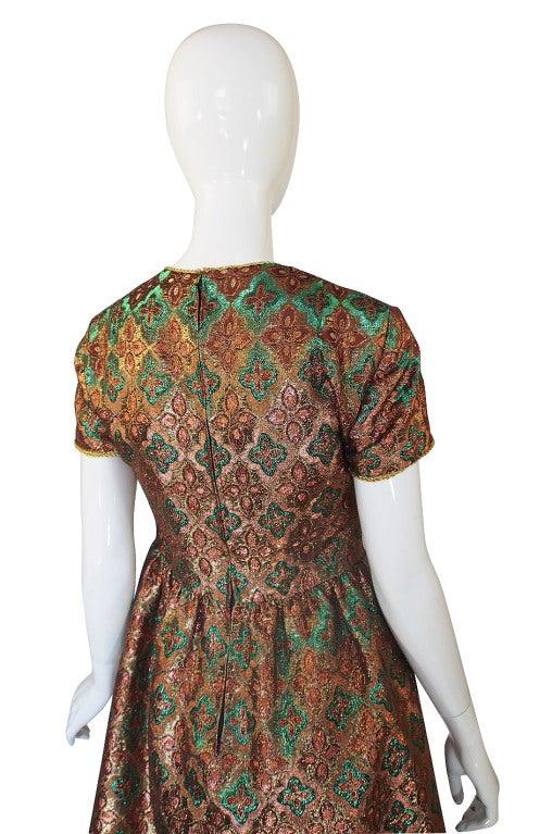 1960s Metallic Oscar De La Renta Dress 5