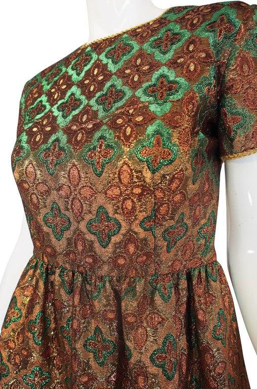 1960s Metallic Oscar De La Renta Dress 6