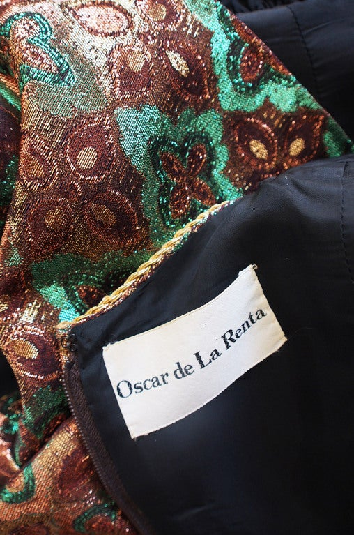 1960s Metallic Oscar De La Renta Dress 8