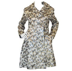 1960s Metallic Silk Ceil Chapman Coat