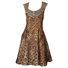 Recent Naeem Khan Beaded Leopard Dress