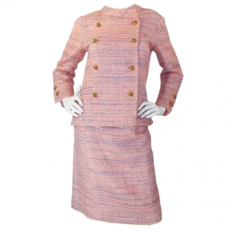 Circa 1966 chanel haute couture suit at 1stdibs for Haute couture suits