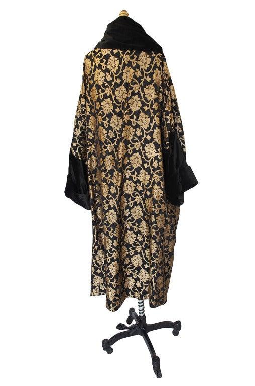 1920s Gold Lame Flapper Cocoon Coat 2