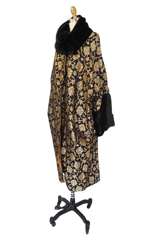 1920s Gold Lame Flapper Cocoon Coat 3