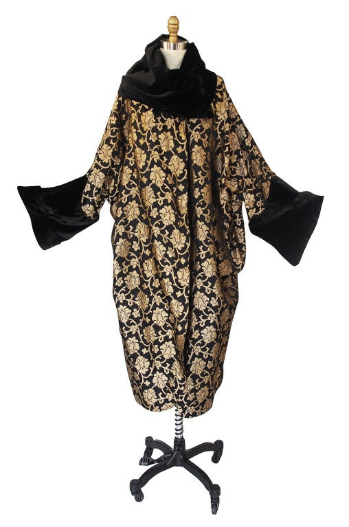 1920s Gold Lame Flapper Cocoon Coat 4