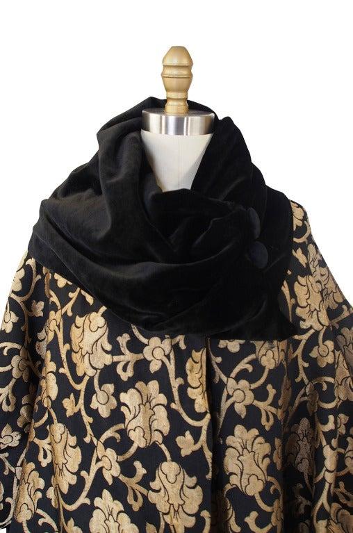 1920s Gold Lame Flapper Cocoon Coat 7