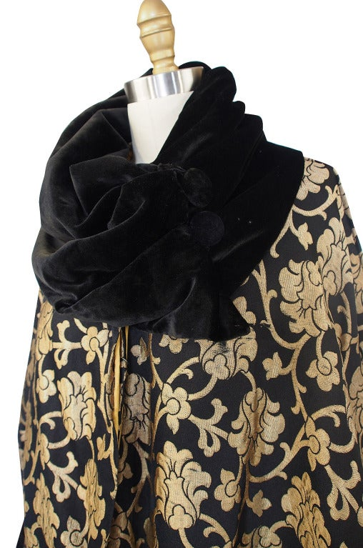 1920s Gold Lame Flapper Cocoon Coat 8