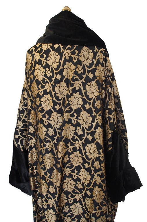 1920s Gold Lame Flapper Cocoon Coat 9