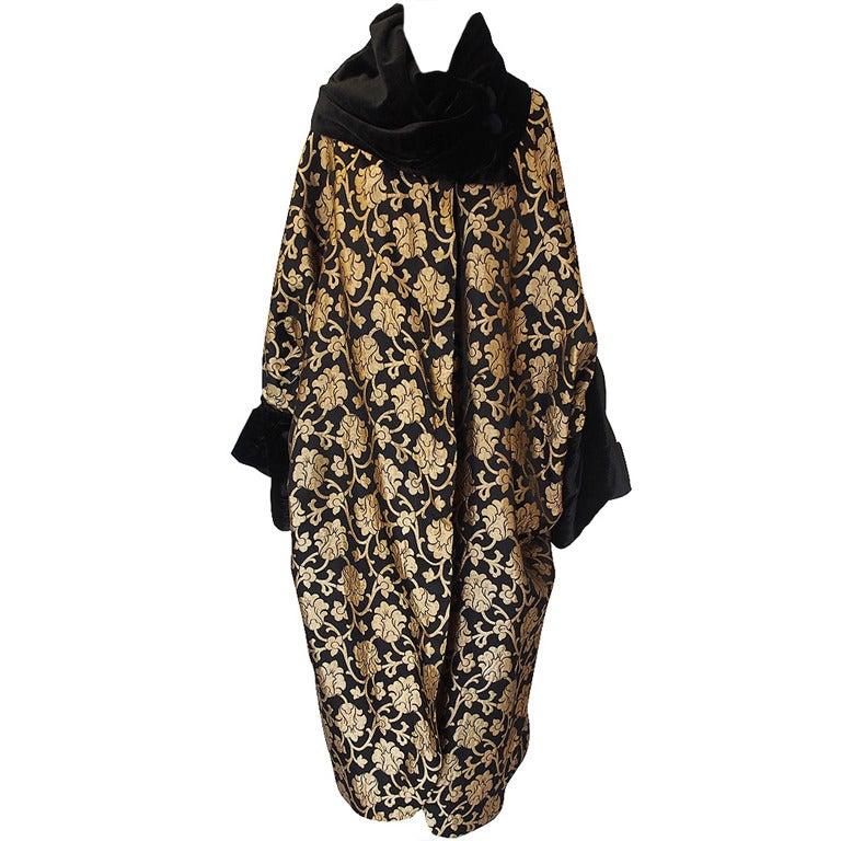 1920s Gold Lame Flapper Cocoon Coat 1