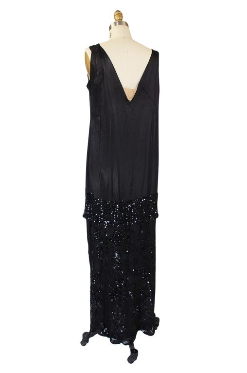 1920s Incredible Lace Bead & Sequin Gown 10