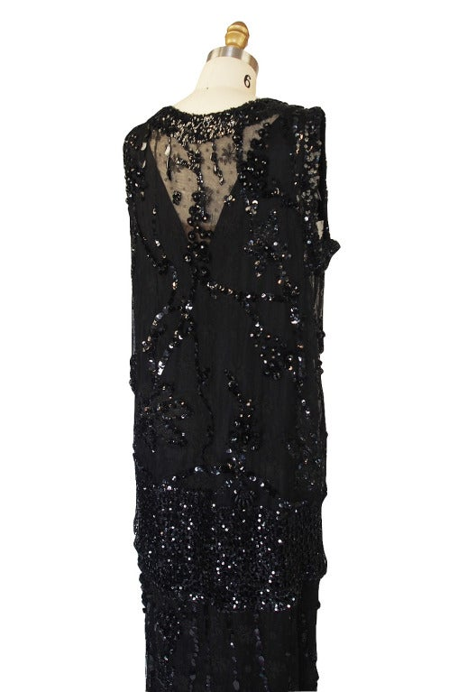 1920s Incredible Lace Bead & Sequin Gown 5