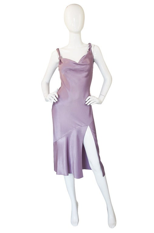 1997 Collection John Galliano Bias Cut Lilac Slip Dress 2