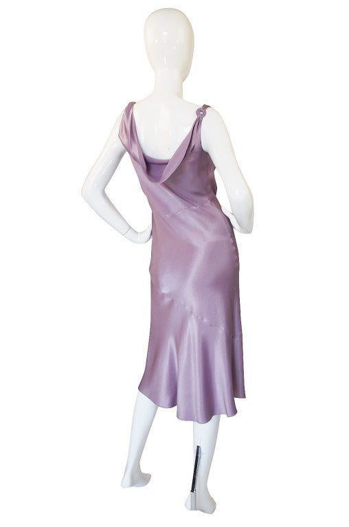 1997 Collection John Galliano Bias Cut Lilac Slip Dress 3