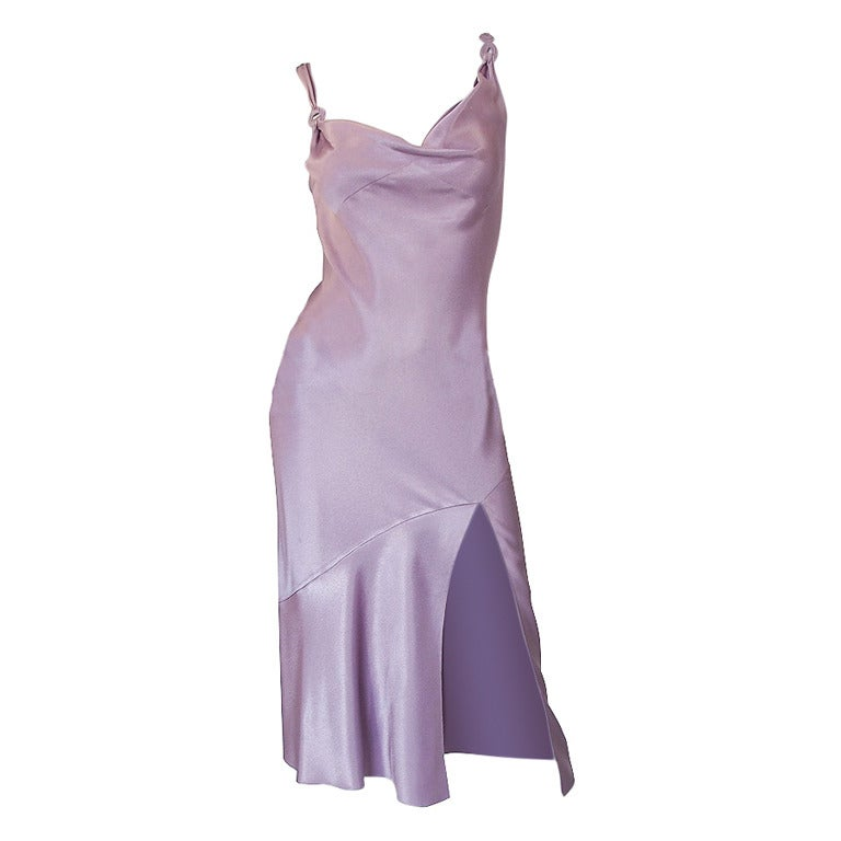 1997 Collection John Galliano Bias Cut Lilac Slip Dress 1