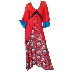 Giorgio Sant' Angelo Red Medieval Collection Dress, 1971
