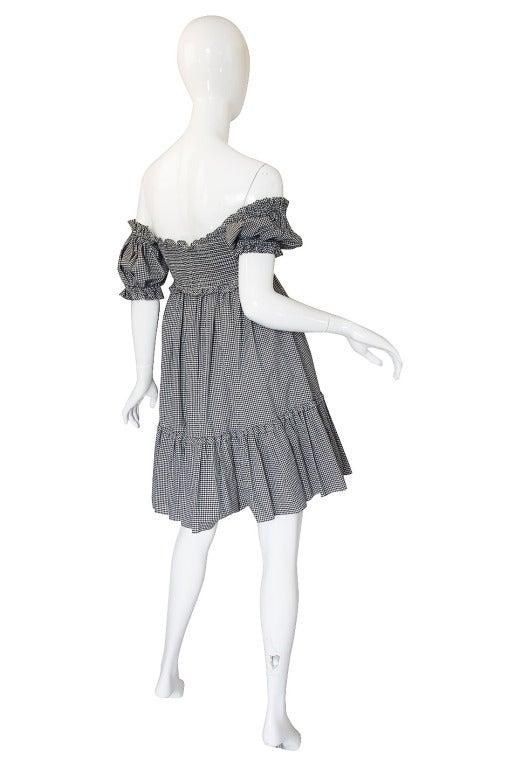 1990s Moschino Gingham Corset Mini Dress 2