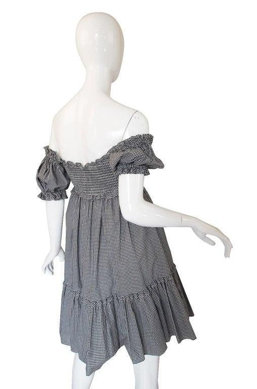 1990s Moschino Gingham Corset Mini Dress 6