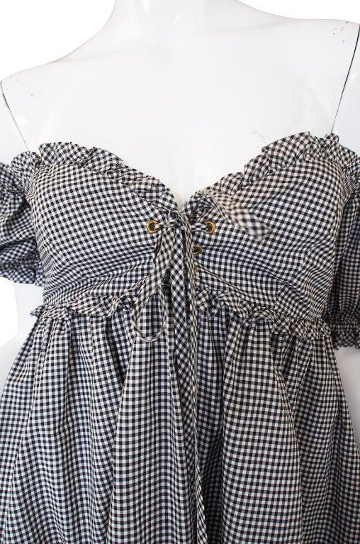 1990s Moschino Gingham Corset Mini Dress 7