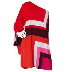 2012 Cruise Christian Dior One Shoulder Caftan Dress