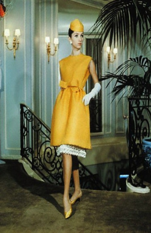c1965 Numbered Christian Dior London Simple Silk Dress 7